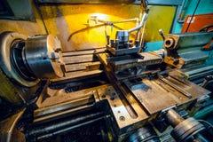 Vintage metal cutting lathe. Royalty Free Stock Photography