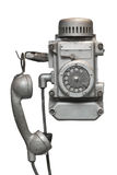 Vintage metal disk phone Stock Image