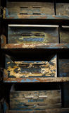 Vintage metal drawers. Background image Royalty Free Stock Photo