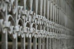 Vintage metal fence ornamets background stock images