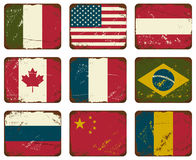 Vintage Metal Flags Stock Photo