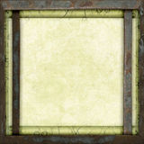 Vintage metal frame empty canvas. Vintage metal framed empty canvas royalty free stock photos