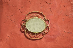 Vintage metal frame - grunge wall background Royalty Free Stock Photography