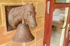 Vintage metal horse bell Stock Photos