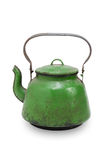 Vintage metal kettle, isolated. On white Royalty Free Stock Image