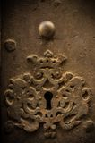 Key hole in old door Stock Photo