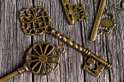 Vintage metal key Stock Photos