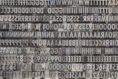 Vintage metal letters and numbers Stock Photography