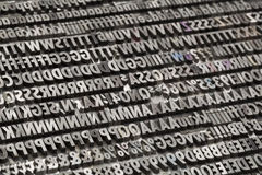Vintage metal letters and numbers Royalty Free Stock Images