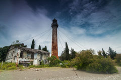 Vintage metal lighthouse, Sukhumi, Abkhazia Royalty Free Stock Photography