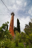 Vintage metal lighthouse, Sukhumi, Abkhazia Stock Photography