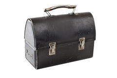 Vintage metal lunch box painted black Stock Images