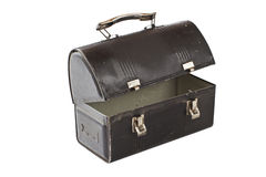 Vintage metal lunch box painted black Stock Photos