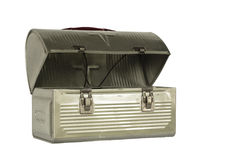 Vintage metal lunchbox Royalty Free Stock Image