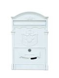 Vintage metal mailbox. Isolation on white background Royalty Free Stock Photo