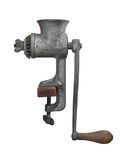 Vintage metal meat grinder isolated. Stock Photos
