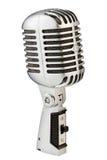 Vintage metal microphone Royalty Free Stock Images