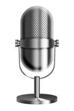 Vintage metal microphone. Royalty Free Stock Photos