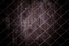 Vintage metal net and grunge background Royalty Free Stock Image