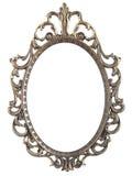 Vintage metal oval frame Stock Image