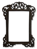 Vintage metal photo frame Stock Photo
