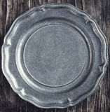 Vintage metal plate Royalty Free Stock Images