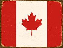 Vintage Metal Sign - Canada Flag. Royalty Free Stock Image