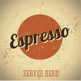 Vintage metal sign - Coffee Espresso Royalty Free Stock Image