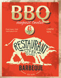 Vintage metal sign - Dad's BBQ - Vector EPS10. Grunge effects can be easily removed. Stock Image