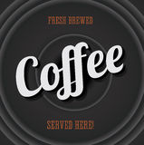 Vintage metal sign - fresh brewed coffee Stock Photo