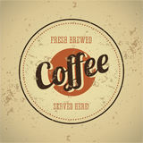Vintage metal sign - fresh brewed coffee Stock Image