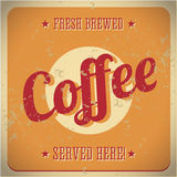 Vintage metal sign - fresh brewed coffee Royalty Free Stock Image