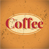 Vintage metal sign - Fresh Brewed Coffee - Vector Royalty Free Stock Photo
