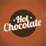 Vintage metal sign - Hot Chocolate Royalty Free Stock Photography