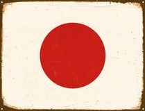 Vintage Metal Sign - Japan Flag. Stock Photos