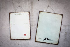 Vintage metal sign Stock Photography