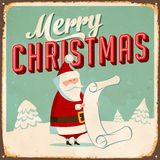 Vintage Metal Sign. Vintage Vector Metal Sign - Merry Christmas - with a realistic used and rusty effect that can be easily removed for a clean, brand new sign Stock Image