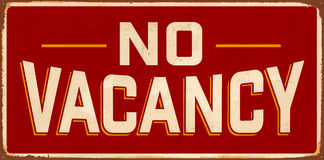 Vintage Metal Sign. Vintage Vector Metal Sign - No Vacancy - with a realistic used and rusty effect that can be easily removed for a clean, brand new sign Royalty Free Stock Image