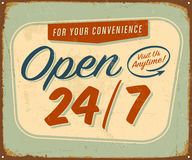 Vintage Metal Sign Stock Images