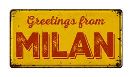 Greetings from Milan Royalty Free Stock Photography