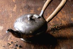Vintage metal teapot Stock Photography