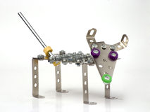 Vintage metal toy - dog. On white background Stock Images