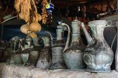 Vintage metal utensils. Yoruk Park. Kemer. Royalty Free Stock Image