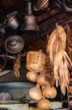 Vintage metal utensils. Yoruk Park. Kemer. Royalty Free Stock Photography
