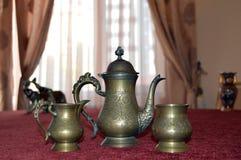 Vintage metal vase Stock Images