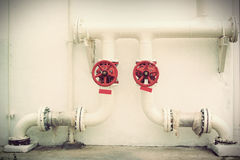Vintage Metal water pipes Royalty Free Stock Photo