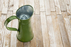 Vintage metal water pitcher Royalty Free Stock Photo