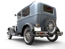 Vintage metallic beautiful oldtimer car - back angled view Stock Photos