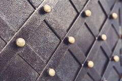 Vintage metallic pattern. Decorative checkered elements Royalty Free Stock Photo