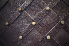 Vintage metallic pattern. Decorative checkered elements Stock Image